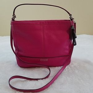 Coach Park Pink Leather Mini Duffle Crossbody
